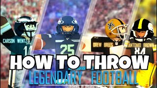 HOW TO THROW IN LEGENDARY FOOTBALL ROBLOX MOBILE