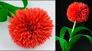 Easy And Beautiful Paper Flower Making | Paper Crafts For School | Paper Flowers Easy | Home Decor