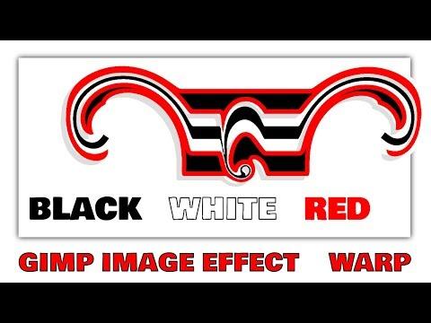 Gimp ( WARP   DISTORT IMAGES   IMAGE EFFECTS) (black-white-red-images) thumbnail