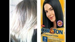Platinando o cabelo com tinta preta,truque profissional!