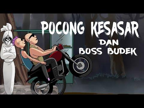 Kartun Lucu Horor - Pocong Kesasar Dan Boss Budek