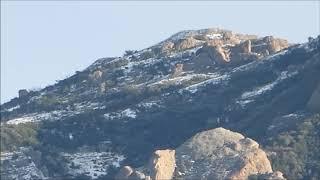 Boney Mountain Snow Views on February 21, 2019 - Thousand Oaks
