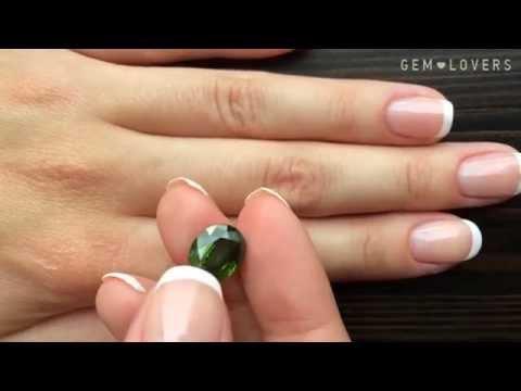 Зеленый циркон  5,32 карата