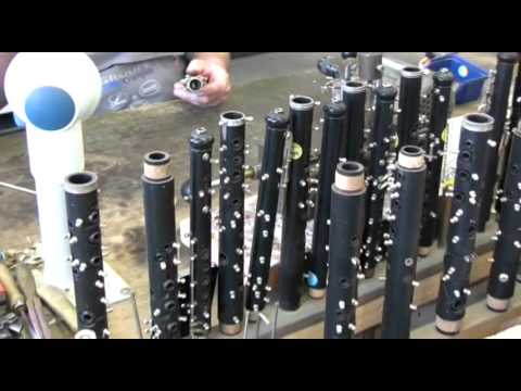 In the factory: Making Buffet Student Oboes