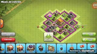 Diseño de aldea de clash of clans ayuntamiento nivel 6(COPAS)