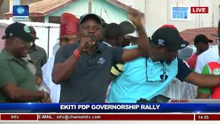 PDP Holds Ekiti Governorship Rally, Presents Flag To Eleka Pt.6