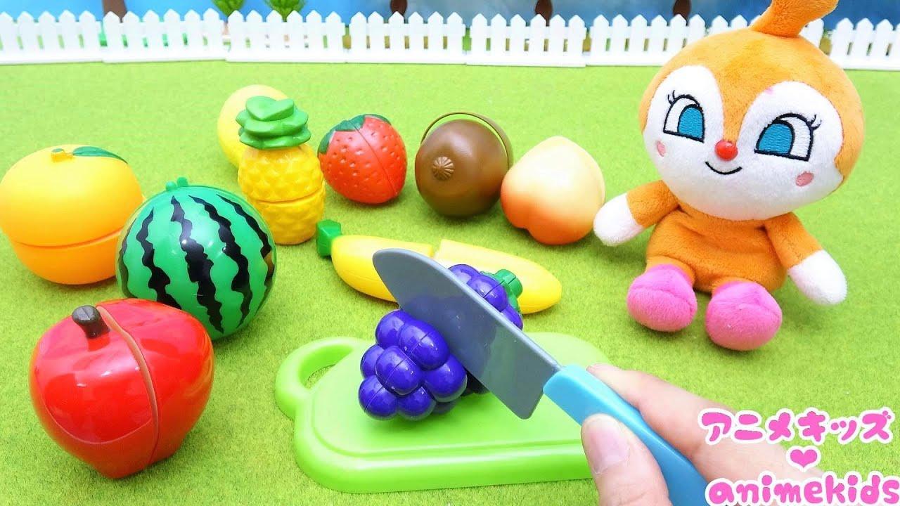 アンパンマン おもちゃ アニメ ドキンちゃん アイスクリームをつくるよ! フルーツをきるよ! アニメキッズ