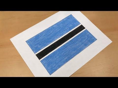Botswanan Flag Drawing 🇧🇼