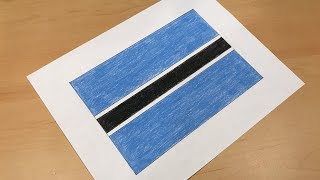 How to Draw the Botswanan Flag   Flag Speed Draw
