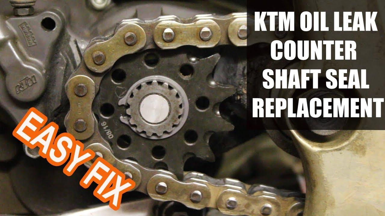 How to replace counter shaft seal on a dirt bike KTM 250 sx - dirt bike  maintenance