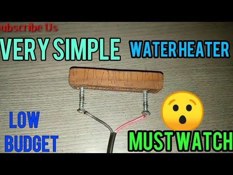 How to make Water heater at home by/ iron coil/wood/ hot heater/very simple/Homemade winter hacks