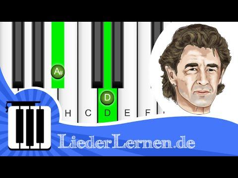 Peter Maffay - Ich wollte nie erwachsen sein - Klavier lernen - Musiknoten - Akkorde