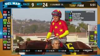 mprobable wins the Shared Belief Stakes Race 8 at Del Mar 082519