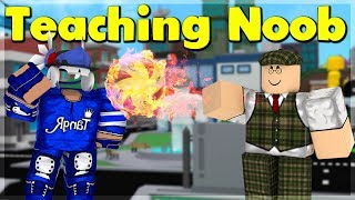 STRONGEST PLAYER TEACHES MY DAD *NOOB* Superhero City (ROBLOX)
