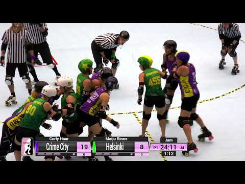 2017 International WFTDA D1 Playoffs: Malmö - Game 6: Crime City vs Helsinki