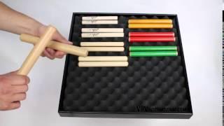 Claves Beech 20.5x2.5cm - 3+ video