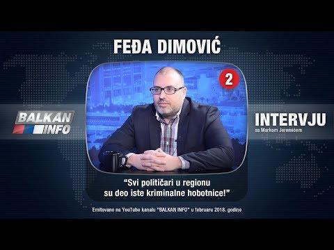 INTERVJU: Feđa Dimović - Svi političari u regionu su deo iste kriminalne hobotnice! (21.02.2018)