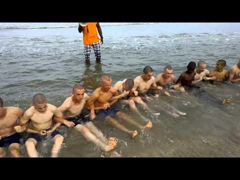 Beach day at Recruit Training Camp Pendleton VA