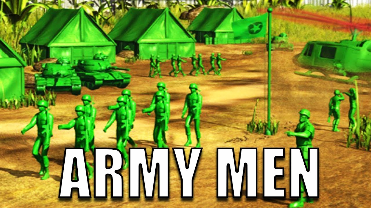 Army Men Game Plastic Green Army Men Battle Simulator