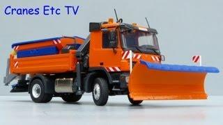 Conrad Mercedes Benz Actros Snow Plough and Spreader by Cranes Etc TV