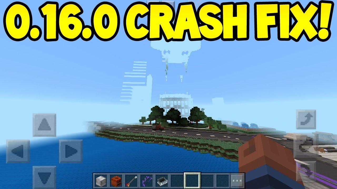 Minecraft pocket edition 0160 update crash fix tutorial minecraft pocket edition 0160 update crash fix tutorial iosandroid youtube baditri Image collections