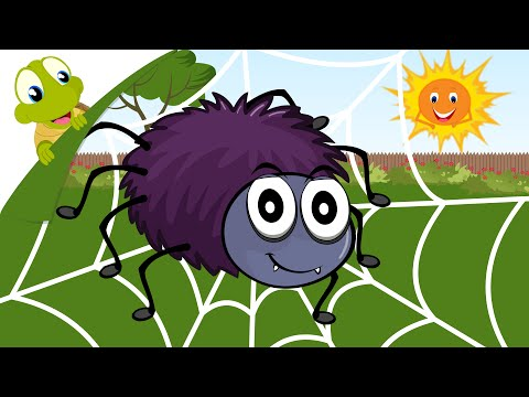 Incy  Wincy Spider Nursery Rhyme with lyrics - Kids song and cartoon animation