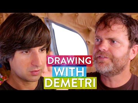 Demetri Martin & Rainn Wilson Draw their Soul  Metaphysical Milkshake
