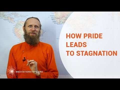 How does pride lead to stagnation?
