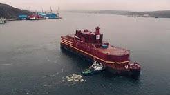 Kelluva ydinvoimala Akademik Lomonosov on saapunut Murmanskiin polttoainelatausta varten