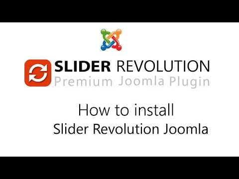 How To Install Slider Revolution In Joomla