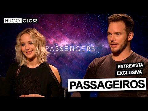 Hugo Gloss entrevista Jennifer Lawrence e Chris Pratt do elenco de