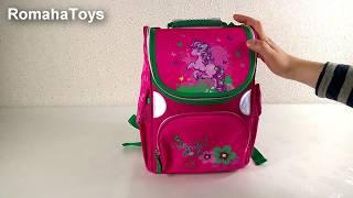 d2430014bbec Школьный рюкзак Rainbow 7-505. Видео обзор каркасного ранца. Ортопедический  портфель.