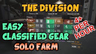 The Division - Easy CLASSIFIED GEAR Solo Farm (4+ Per Hour) - 1.8 Update