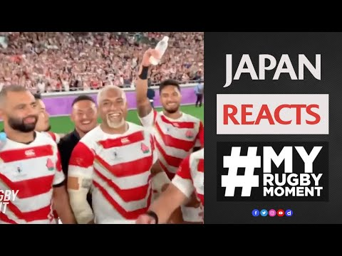 How Japan reacted to Rugby World Cup win! | #MyRugbyMoment