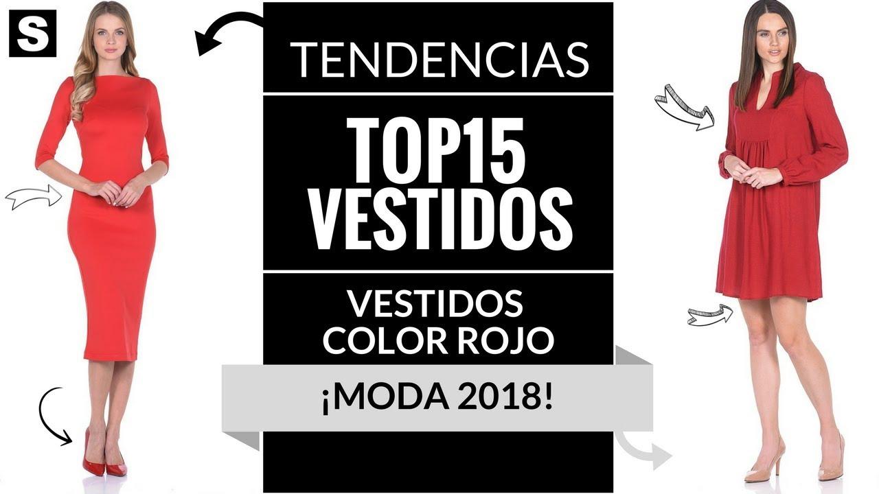 cf9c20744 VESTIDOS ROJOS 👗 ¡MODA 2018!  Vestidos  Color  Rojo - YouTube
