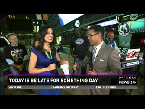 DJ LC - News 8 Daybreak 09-05-14 (NFL Kick-Off)