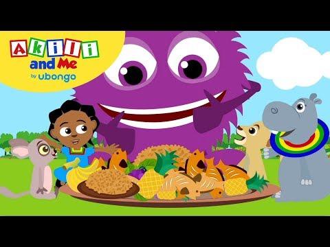 Healthy Eating! | Akili and Me | Learn Swahili with Akili