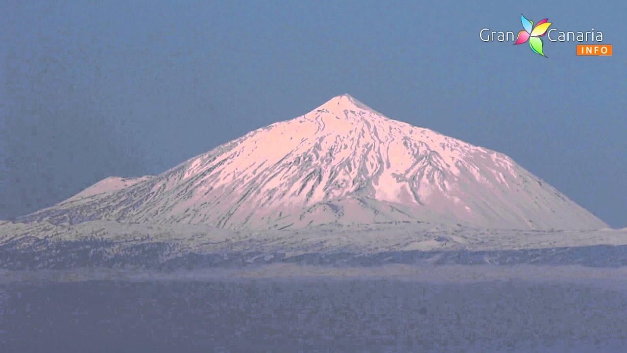 Snow on the teide tenerife as seen from gran canaria - El baul gran canaria ...