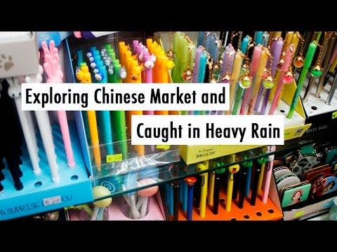 TRAVEL VLOG CHINA: Exploring Chinese Market and Caught in Heavy Rain //中国旅行记:去中国商场逛一逛