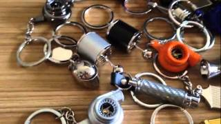 Auto parts keychain---Turbo,piston,Disc brake,spark plug,gear,shock absorber,Nos,Intercooler