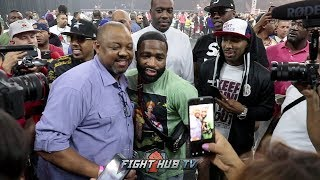 DALLAS LOVES AB! ADRIEN BRONER GETS MOBBED BY FANS AT ERROL SPENCE FIGHT!