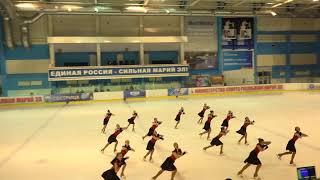 Чемпионат России по синхронному катанию  1 спортивный разряд - ПП 12 Казаночка КАЗ