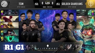 TSM vs Golden Guardians - Game 1 | Round 1 Playoffs S10 LCS Summer 2020 | TSM vs GG G1