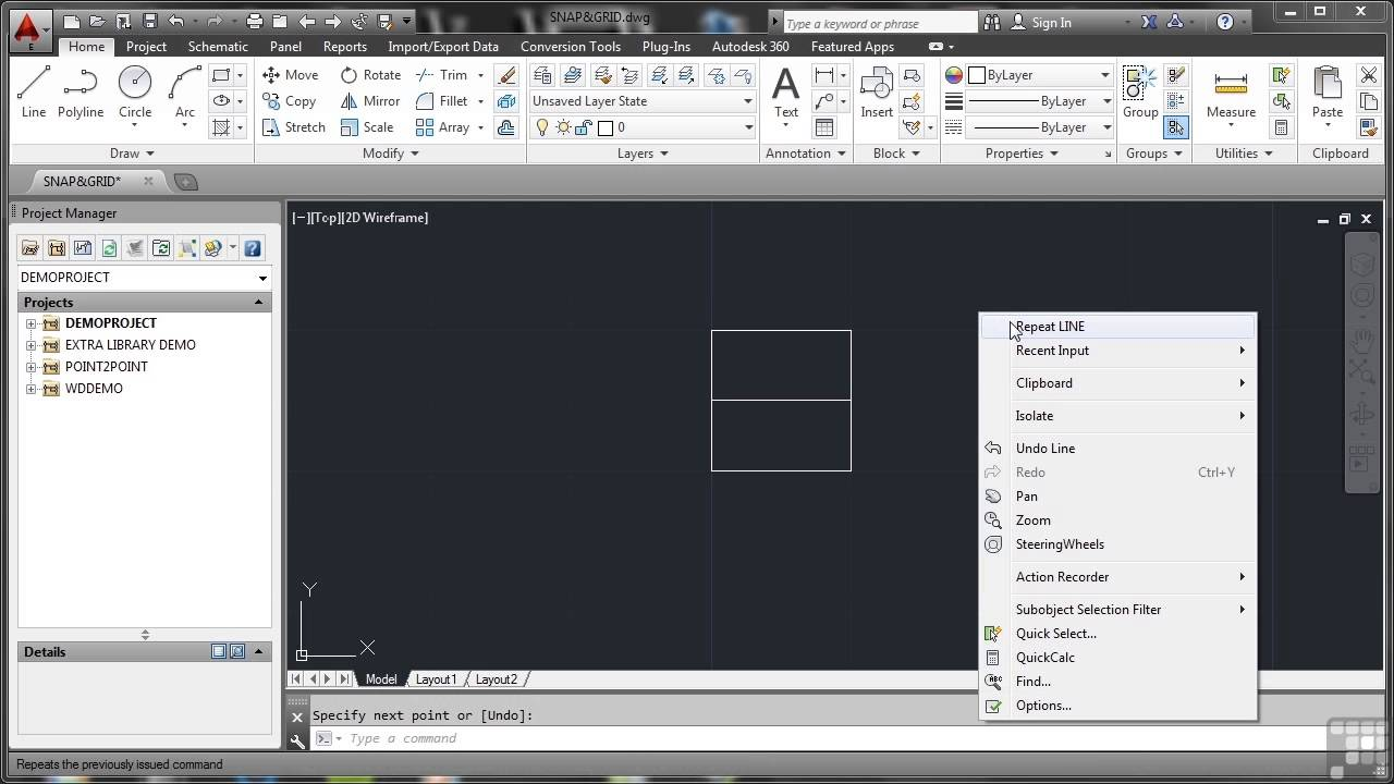Autodesk Autocad Electrical 2014 Tutorial Snap And Grid