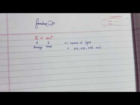 Deriving E = mc^2