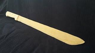 Wooden machete Tutorial - Free templates