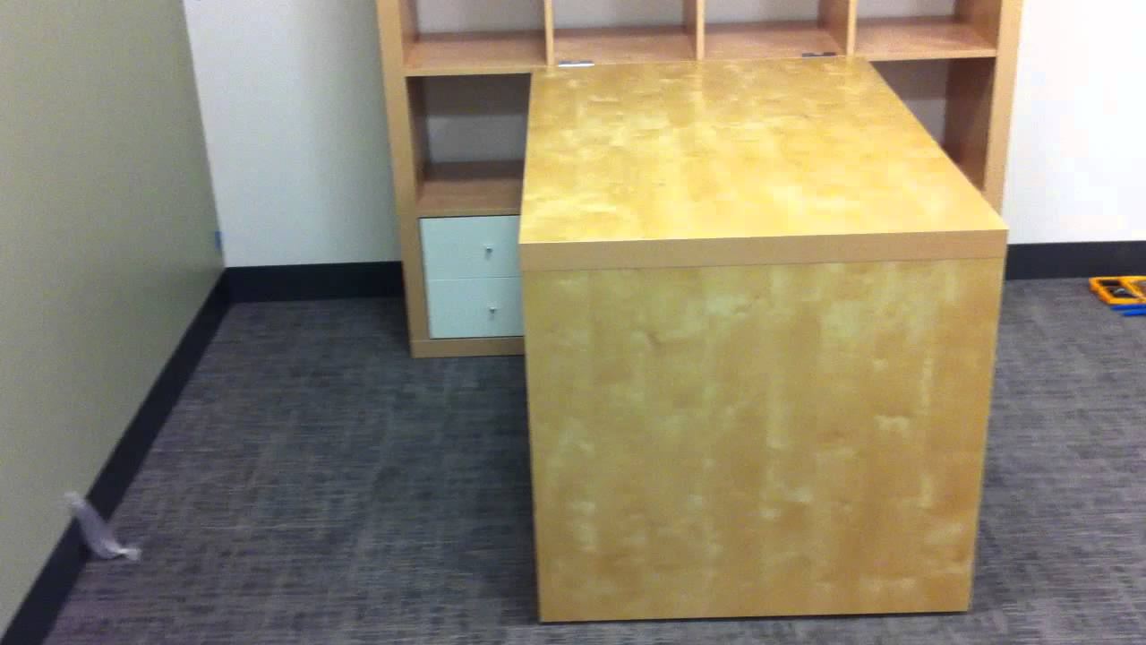 Ikea Expedit Desk Assembly Service Video In Baltimore MD By Furniture  Assembly Experts LLC   YouTube