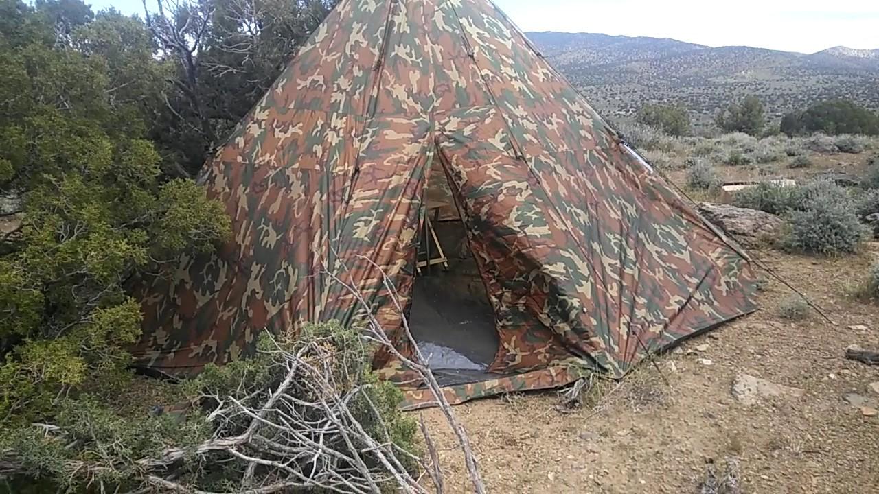 18x18 teepee tent & 18x18 teepee tent - YouTube