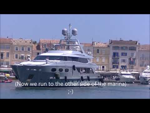 The 43 meter Baglietto yacht Annamia in St Tropez