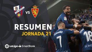 Resumen de SD Huesca vs Real Zaragoza (2-1)